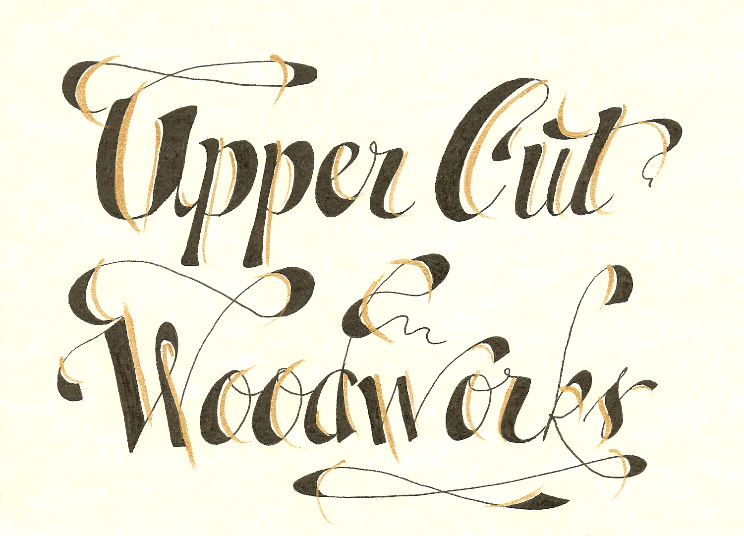Upper Cut Woodworks Calligraphy Logo from fiverr.com