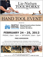 Lie-Nielsen Seattle Hand Tool Flyer