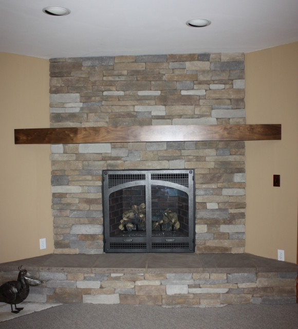 Stavoe Family Room Walnut Mantel